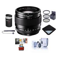 Image of Fujifilm XF 23mm (35mm) F/1.4R Lens - Bundle with 62mm Filter Kit, Lens Wrap, Lens Case, Cleaning Kit, Capleash, MAC Software Package