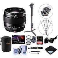 Image of Fujifilm XF 23mm (35mm) F/1.4R Lens - Bundle with 62mm Filter Kit, Lens Case, Flex Lens Shade, 32GB SDHC Card, 4 Sec Monopod, Lens Wrap, Lens Cleaner, Cleaning Kit, Capleash, Software Pack