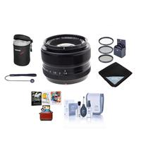 Image of Fujifilm XF 35mm (53mm) F/1.4 Lens - Bundle with 52mm Filter Kit, Lens Pouch, Capleash, Cleaning Kit, Lens Wrap, Mac Software Package