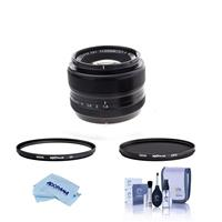 Image of Fujifilm XF 35mm (53mm) F/1.4 Lens - Bundle With Hoya 52mm 10-Layer HMC Multi-Coated UV Filter, Hoya 52mm HMC Multi-Coated Circular Polarizer Filter, Cleaning Kit, Microfiber Cloth