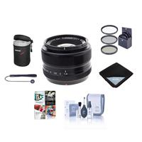 Image of Fujifilm XF 35mm (53mm) F/1.4 Lens - Bundle with 52mm Filter Kit, Lens Pouch, Capleash, Cleaning Kit, Lens Wrap, Software Package