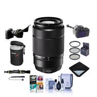 Image of Fujifilm XC 50-230mm (76-350mm) F4.5-6.7 OIS II Lens Black - Bundle With FocusShifter DSLR Follow Focus, Flex Lens Shade, 58mm Filter Kit, Lens Case, Cleaning Kit, Lens Wrap, Software Package And More