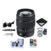 Image of Fujifilm GF 32-64mm f/4 R LM WR Wide-Angle Zoom Lens - Bundle With 77mm Filter Kit, Flex Lens Shade, Lens Wrap, Lens Pen Cleaner, Lens Cap Leash, Cleaning Kit, PC Software Package
