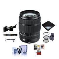 Image of Fujifilm GF 32-64mm f/4 R LM WR Wide-Angle Zoom Lens - Bundle With 77mm Filter Kit, Flex Lens Shade, Lens Wrap, Lens Pen Cleaner, Lens Cap Leash, Cleaning Kit, Mac Software Package
