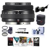 Image of Fujifilm FUJINON GF 50mm F/3.5 R LM WR Lens for GFX Medium Format System - Bundle With 62mm Filter Kit, Lens Case, Flex Lens Shade, Cleaning Kit, Capleash, LenPen Lens Cleaner, Pc Software Package