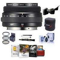Image of Fujifilm FUJINON GF 50mm F/3.5 R LM WR Lens for GFX Medium Format System - Bundle With 62mm Filter Kit, Lens Case, Flex Lens Shade, Cleaning Kit, Capleash, LenPen Lens Cleaner, Mac Software Package