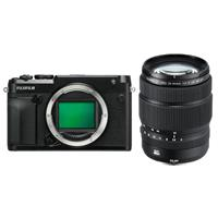 Fujifilm GFX 50R Medium Format Mirrorless Camera With Fujifilm GF 32-64mm f/4 R LM WR Wide-Angle Zoom Lens