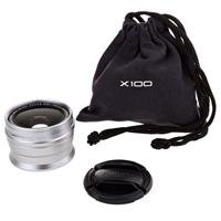 Image of Fujifilm WCL-X100 0.8x Wide Conversion Lens for X100 Digital Camera, Silver