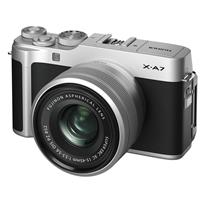 Fujifilm X-A7 24.2MP Mirrorless Digital Camera with Fujinon XC 15-45mm F3.5-5.6 OIS PZ Lens, Silver