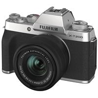 Fujifilm X-T200 Mirrorless Digital Camera with FUJINON XC 15-45mm f/3.5-5.6 Optical Image Stabilization Power Zoom Lens - Silver