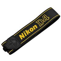 Image of Nikon AN-DC7 Replacement Wide Neck Strap for D4 D-SLR - Black with Yellow Letters