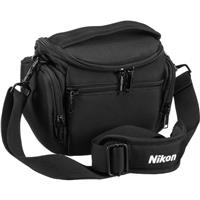 Image of Nikon Compact Camera Case for Nikon 1 J5 and Coolpix P900 Cameras, Gray