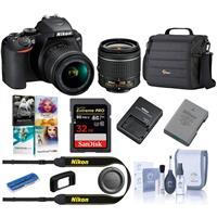 Nikon D3500 24MP DSLR Camera with AF-P DX NIKKOR 18-55mm f/3.5-5.6G VR Lens, Black Starter Bundle