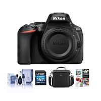 Nikon D5600 Digital SLR Camera Body, Black - Bundle With 16GB SDHC Card, Camera Case, Cleaning Kit, PC Software Package