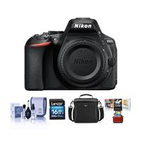 Nikon D5600 Digital SLR Camera Body, Black - Bundle With 16GB SDHC Card, Camera Case, Cleaning Kit, Mac Software Package