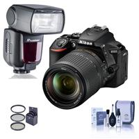 Nikon D5600 DSLR with AF-S DX NIKKOR 18-140mm f/3.5-5.6G ED VR Lens - With Flashpoint Zoom TTL R2 Flash with Integrated R2 Radio Transceiver, Cleaning Kit, 67mm Filter Kit