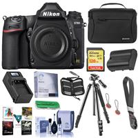 Image of Nikon D780 FX-Format DSLR Camera Body - Bundle With Camera Case, 128GB SDXC Memory Card, Spare Battery, Compact Charger, Tripod, Cleaning Kit, Camera Cuff Wrist Strap, Software Package, And More