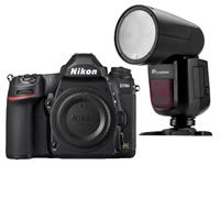 Nikon D780 FX-Format DSLR Camera Body - With Flashpoint Zoom Li-on X R2 TTL On-Camera Round Flash Speedlight For Nikon