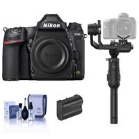 Nikon D780 FX-Format DSLR Camera Body - Bundle With DJI Ronin-S Essentials Kit, Spare Battery, Cleaning Kit