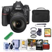 Image of Nikon D780 FX-Format DSLR Camera with AF-S NIKKOR 24-120mm f/4G ED VR Lens - Bundle With 64GB SDXC Card, Camera Bag, 77mm Filter Kit, Cleaning Kit, Capleash II, Card Reader, Mac Software Package