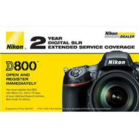 Image of Nikon 2 Year Extended Service Coverage for D800 / D800E Digital SLR Cameras