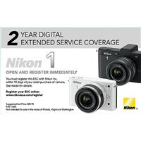 Image of Nikon Extended Service Coverage (2 years) for 1 J1, J2 and 1 V1, V2 Cameras