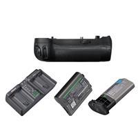 Image of Nikon MB-D18 Multi Power Battery Pack for D850 Digital Camera - Bundle With EN-EL18B Battery, Nikon MH-26aAK Adapter Kit, Nikon BL-5 Battery Chamber Cover