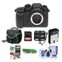 Image of Panasonic Lumix DC-GH5s Mirrorless Camera Body - Bundle With 32GB SDHC U3 Card, Spare Battery, Camera Case, Cleaning Kit, Memory Wallet, Card Reader, Software Package