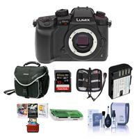 Image of Panasonic Lumix DC-GH5s Mirrorless Camera Body - Bundle With 32GB SDHC U3 Card, Spare Battery, Camera Case, Cleaning Kit, Memory Wallet, Card Reader, Mac Software Package