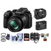 Panasonic LUMIX DC-FZ1000M2 20.1MP Digital Camera with 25-400mm f/2.8-4 Leica DC Lens - Bundle with 64GB U3 SDXC Card, Camera Case, Spare Battery, 62mm Filter Kit, Cleaning Kit, Memory Wallet, Mac Software