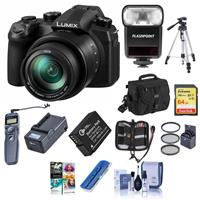 Panasonic LUMIX DC-FZ1000M2 20.1MP Digital Camera with 25-400mm f/2.8-4 Leica DC Lens - Bundle with 32GB U3 SDHC Card, Camera Case, Spare Battery, 62mm Filter Kit, Cleaning Kit, Memory Wallet, PC Software
