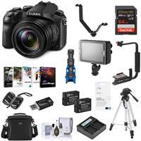 Panasonic Lumix DMC-FZ2500 Digital Camera - Bundle With Camera Case, 64GB SDxC U3 Card, 2x Spare Battery, Tripod, Video Light, Flip Flash Bracket, Shotgun Mic, Memory Wallet, Software Package, and More