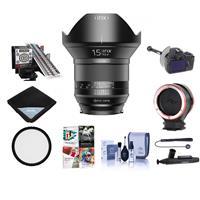 Image of IRIX 15mm f/2.4 Blackstone Lens for NIKON DSLR Cameras - Manual Focus - Bundle With 95mm Uv Filter, LensAlign MkII Focus Calibration System, FocusShifter DSLR Follow Focus, And More