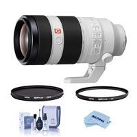 Image of Sony FE 100-400mm f/4.5-5.6 GM OSS E-Mount Lens - Bundle With Hoya 77mm 10-Layer HMC UV Filter, Hoya 77mm HMC Circular Polarizer Filter, Cleaning Kit, Microfiber Cloth