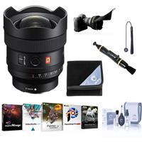 Image of Sony FE 14mm f/1.8 GM Full-Frame Ultra Wide Angle Prime G-Master Lens - Bundle With Flex Lens Shade, Lens Cleaner, Lens Wrap 19X19, Cleaning Kit, Lens Cap Tether, Corel PC Software Kit