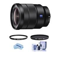 Image of Sony Vario-Tessar T* FE 16-35mm F4 ZA OSS E-Mount Lens - Bundle With Hoya NXT Plus 72mm 10-Layer HMC UV Filter, HOYA 72mm NXT Circular Polarizer Filter, Cleaning Kit, Microfiber Cloth