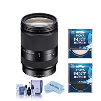 Image of Sony E 18-200mm f/3.5-6.3 OSS LE E-Mount Lens - Bundle With Hoya NXT Plus 62mm 10-Layer HMC UV Filter, Hoya NXT Plus, 62mm HMC Circular Polarizer Filter, Cleaning Kit, Microfiber Cloth
