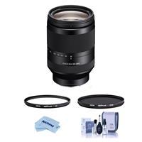 Image of Sony FE 24-240mm F3.5-6.3 OSS E-Mount Camera Lens - Bundle With Hoya NXT Plus 72mm 10-Layer HMC UV Filter, HOYA 72mm NXT Circular Polarizer Filter, Cleaning Kit, Microfiber Cloth