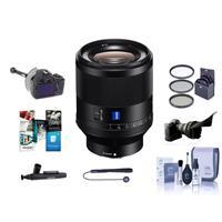 Image of Sony Planar T* FE 50mm F1.4 ZA Lens - Bundle With 72mm Filter Kit, Flex Lens Shade, FocusShifter DSLR Follow Focus, Cleaning Kit, Lens Wrap, Lenscap Leash, lens Cleaner, Software Package