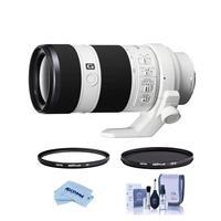 Image of Sony FE 70-200mm f/4.0 G OSS E Mount Lens - Bundle With Hoya NXT Plus 72mm 10-Layer HMC UV Filter, HOYA 72mm NXT Plus Circular Polarizer Filter, Cleaning Kit, Microfiber Cloth