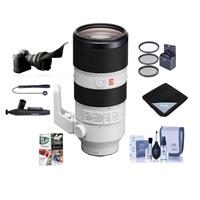 Image of Sony FE 70-200mm f/2.8 GM (G Master) OSS E-Mount Lens - Bundle With 77mm Filter Kit, Flex Lens Shade, Cleaning Kit, Lens Wrap, Lens Cleaner, Capleash, PC Software Package