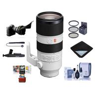 Image of Sony FE 70-200mm f/2.8 GM (G Master) OSS E-Mount Lens - Bundle With 77mm Filter Kit, Flex Lens Shade, Cleaning Kit, Lens Wrap, Lens Cleaner, Capleash, Mac Software Package