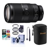 Image of Sony E 70-350mm f/4.5-6.3 G OSS Lens - Bundle With Lens Case, 67mm Filter KIt, Capleash II, Cleaning kit, Pc Software Package