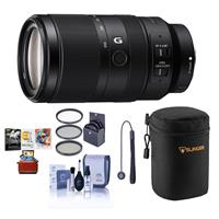 Image of Sony E 70-350mm f/4.5-6.3 G OSS Lens - Bundle With Lens Case, 67mm Filter KIt, Capleash II, Cleaning kit, Mac Software Package