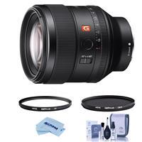 Image of Sony FE 85mm F1.4 GM (G Master) E-Mount Lens - Bundle With Hoya NXT Plus 77mm 10-Layer HMC UV Filter, HOYA 77mm NXT Circular Polarizer Filter, Cleaning Kit, Microfiber Cloth