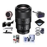 Sony FE 90mm f/2.8 Macro G OSS Lens - Bundle with 62mm Filter Kit, Flex Lens Shade, FocusShifter DSLR Follow Focus, Peak Lens Changing Kit Adapter, Lens Wrap, Cleaning Kit, PC Software Package And More