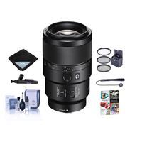Sony FE 90mm f/2.8 Macro G OSS Lens - Bundle with 62mm Filter Kit, Lens Wrap, LensPen Lens Cleaner, Cleaning Kit, Lens Cap Leash - PC Software Package