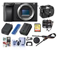Sony Sony Alpha a6400 Mirrorless Digital Camera Body Only, Bundle with Bag, 32GB SD Card, Corel PC Software Pack and Accessories