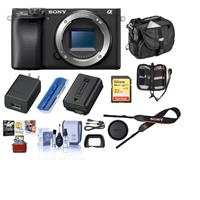 Sony Alpha a6400 Mirrorless Digital Camera Body Only, Bundle with Bag, 32GB SD Card, Corel Mac Software Pack and Accessories