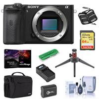 Sony Alpha a6600 Mirrorless Camera Body - Bundle With Camera Case, 64GB SDXC U3 Memory Card, Spare Battery, Table Top Tripod, Compact Charger, Cleaning Kit, Memory Wallet, Card Reader, PC Software